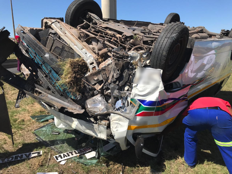 Taxi Rollover Leaves Ten Injured In Bonteheuwel Western Cape